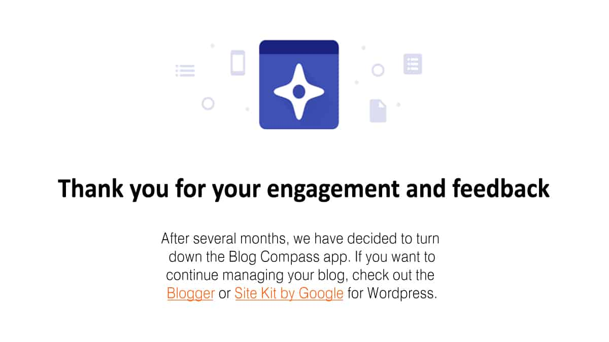 Blog compass app turned down by Google from playstore